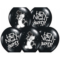 Ballonger Hen Night Party Sort 6-pk - Festbutikken AS