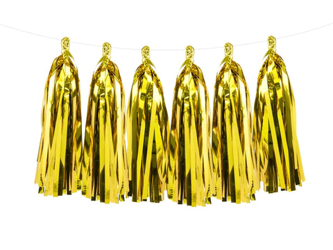 Tassel Girlander Gull 12-pk - Festbutikken AS