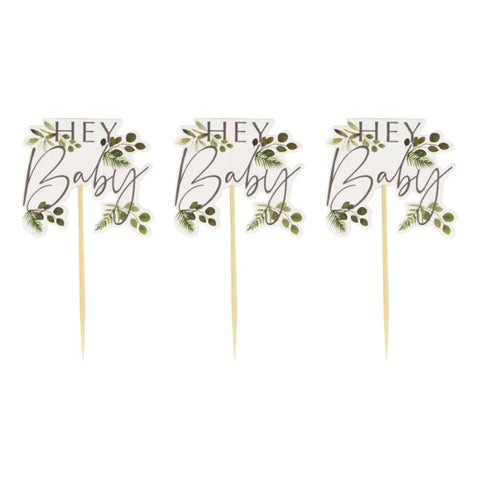 Botanical Baby – Cupcake toppers