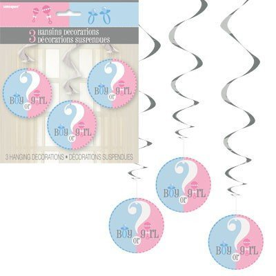 "Hanging Decorations ""Boy or Girl"" 3-pk - Festbutikken AS"