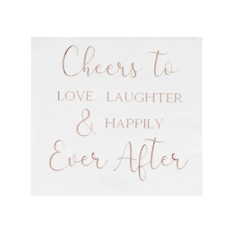 Servietter Cheers to Love, Laughter & Happily Ever After