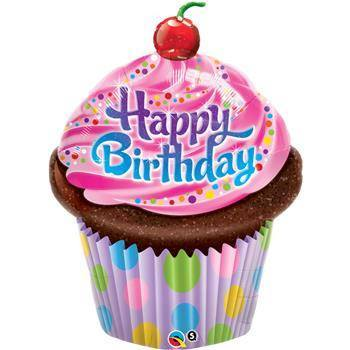 Birthday Frosted Cupcake 89cm - Festbutikken AS