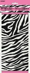 "Gavepose cellofan ""Zebra Passion"" 20-pk - Festbutikken AS"