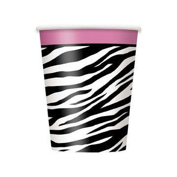 "Pappkrus ""Zebra Passion"" 8-pk - Festbutikken AS"
