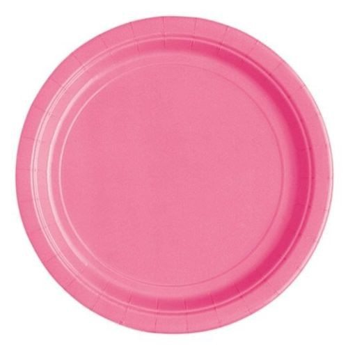 Papptallerken Hot Pink 8-pk - Festbutikken AS