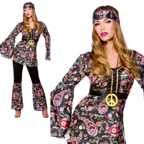 Peace Lovin` Hippie Kostyme - Festbutikken AS