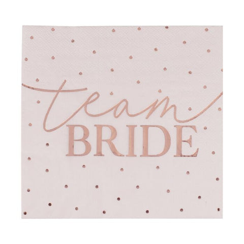 Team Bride Blush Servietter