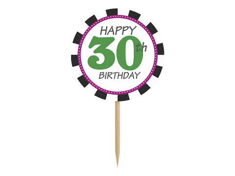 Cupcake Toppers 30 - 6-pk - Festbutikken AS
