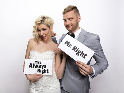 Photoprops Mr.Right/Mrs.Always Right - Festbutikken AS