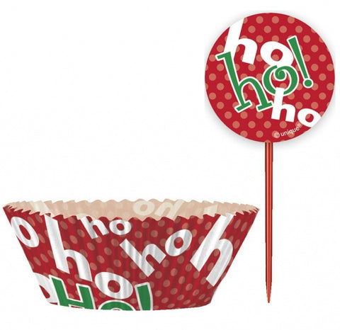 "Cupcake Kit ""Ho Ho Ho"" 24-pk - Festbutikken AS"