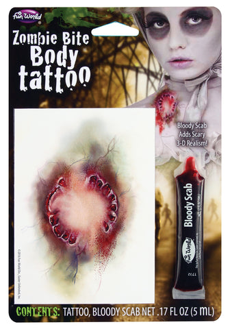 Zombie Bite Body Tattoo