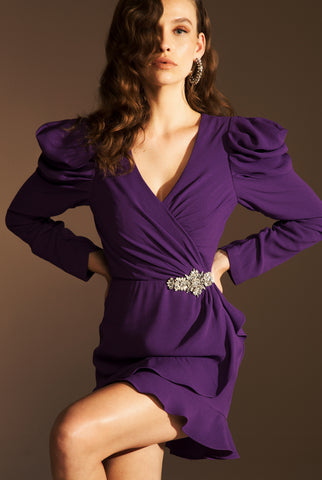 TINA MINI DRESS - PURPLE