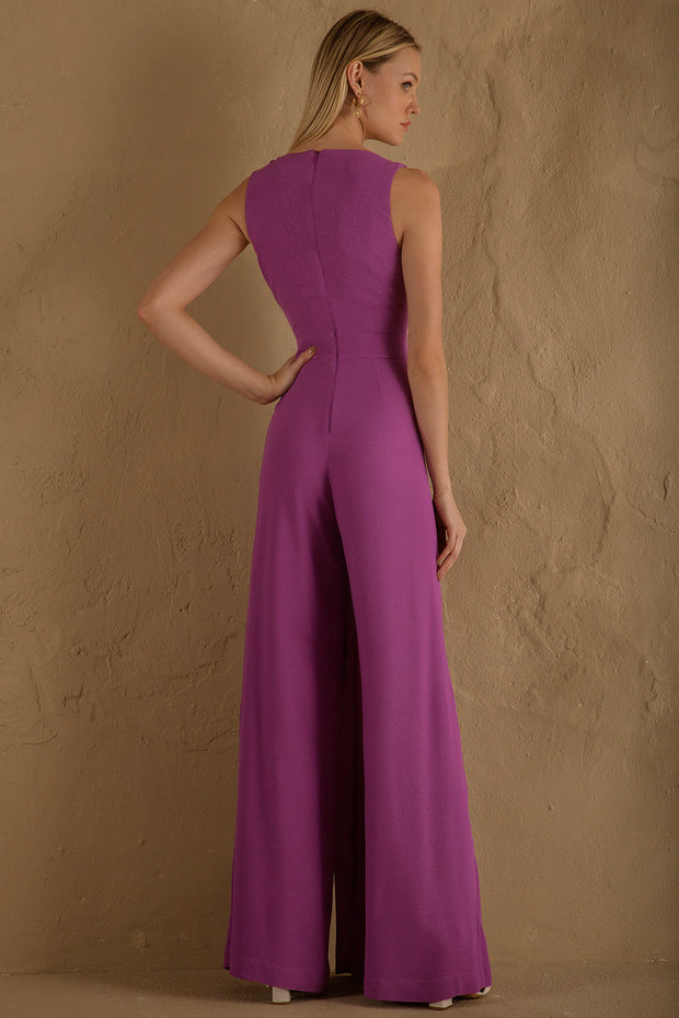 BRIT JUMPSUIT - PURPLE