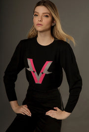 LETTER V - LONG SLEEVE