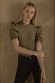 LISA GOLD BLOUSE