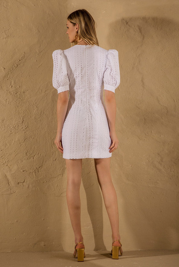 WHITE LAISE MINI DRESS