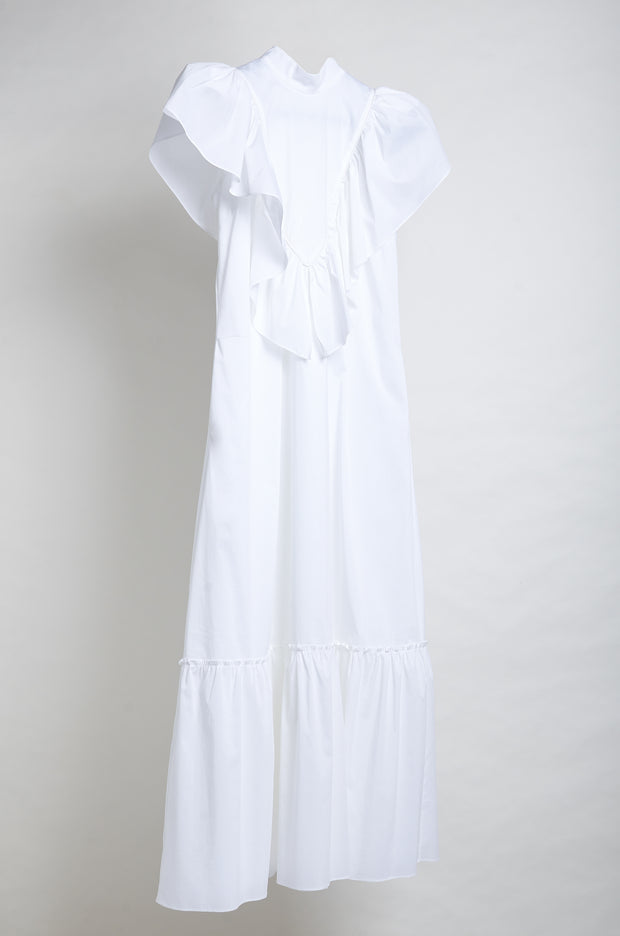 MARIA VITORIA DRESS- WHITE