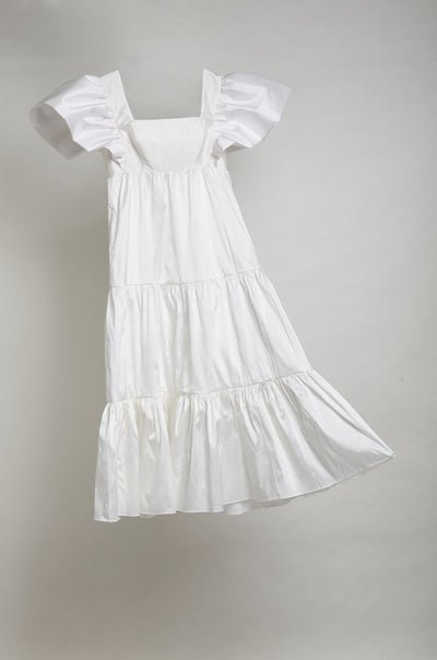 MARIA ANTONIA DRESS- WHITE