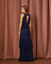 KERRY BLUE LONG DRESS