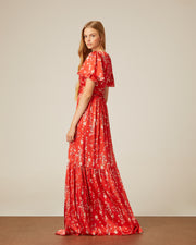 CHERRY TREE MAXI DRESS