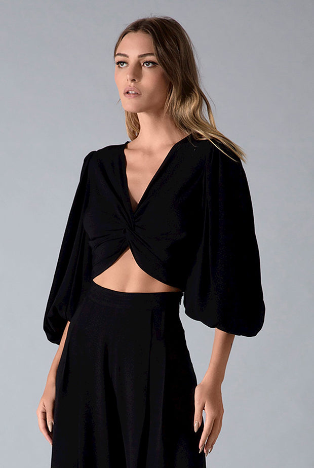 LUCY TOP - BLACK