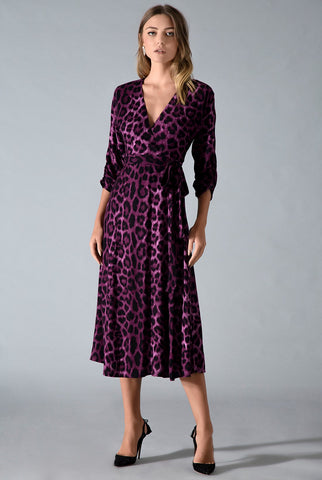 CAMMIE WRAP MIDI DRESS