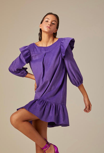 PURPLE VELVET DRESS
