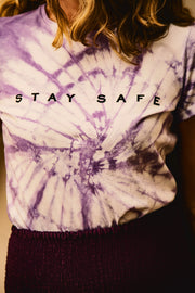 PURPLE T-SHIRT STAY SAFE