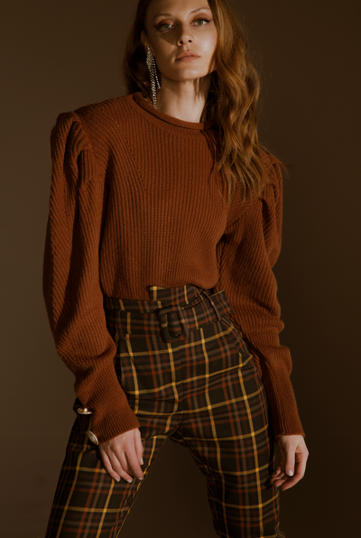 LOREN SWEATER - BROWN