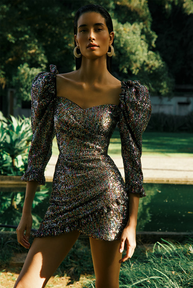 BECCA SEQUIN MINI DRESS