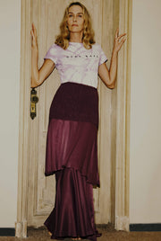 SAMANTHA SILK MAXI  SKIRT