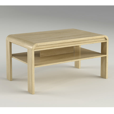 Charming Rounded Edge Coffee Table Oak Effect   Msek