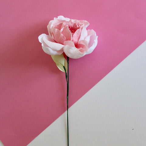 English Rose Paper Flower