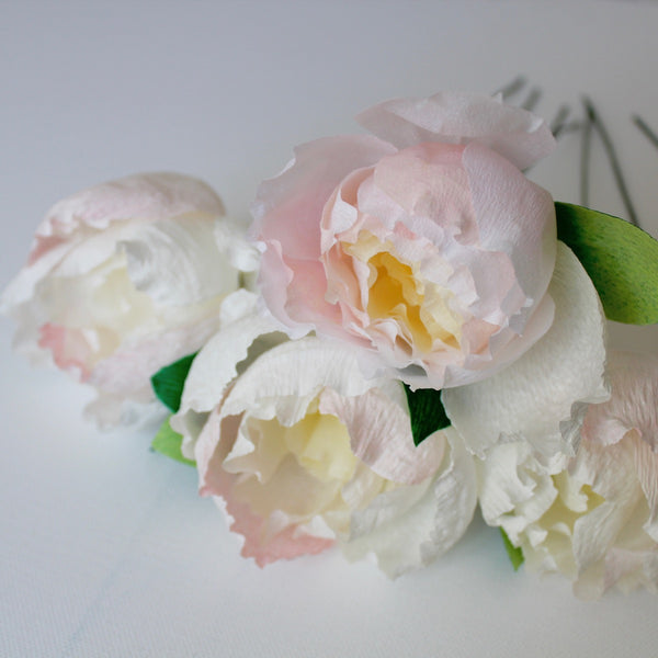 Ivory Paper Peony Bouquet