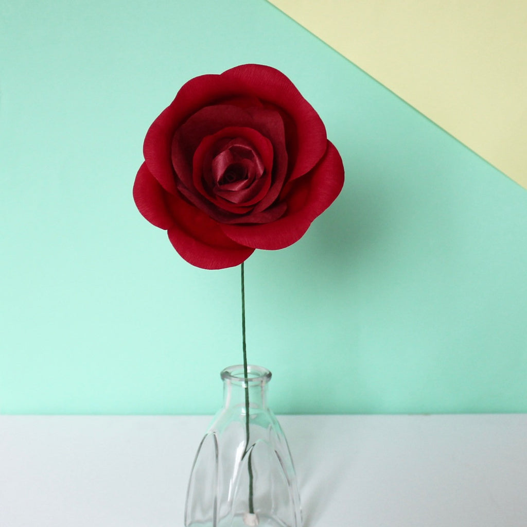 Classic Red Paper Rose