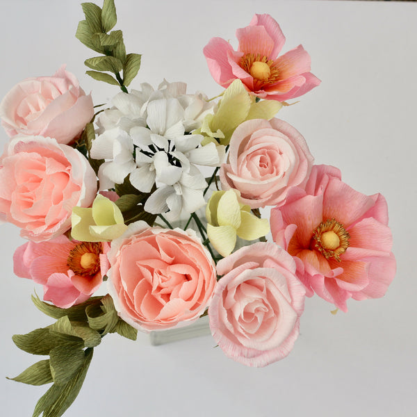 Pink and White Paper Bouquet
