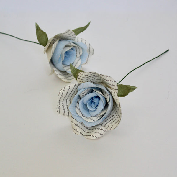 Something Blue Storyteller Paper Rose