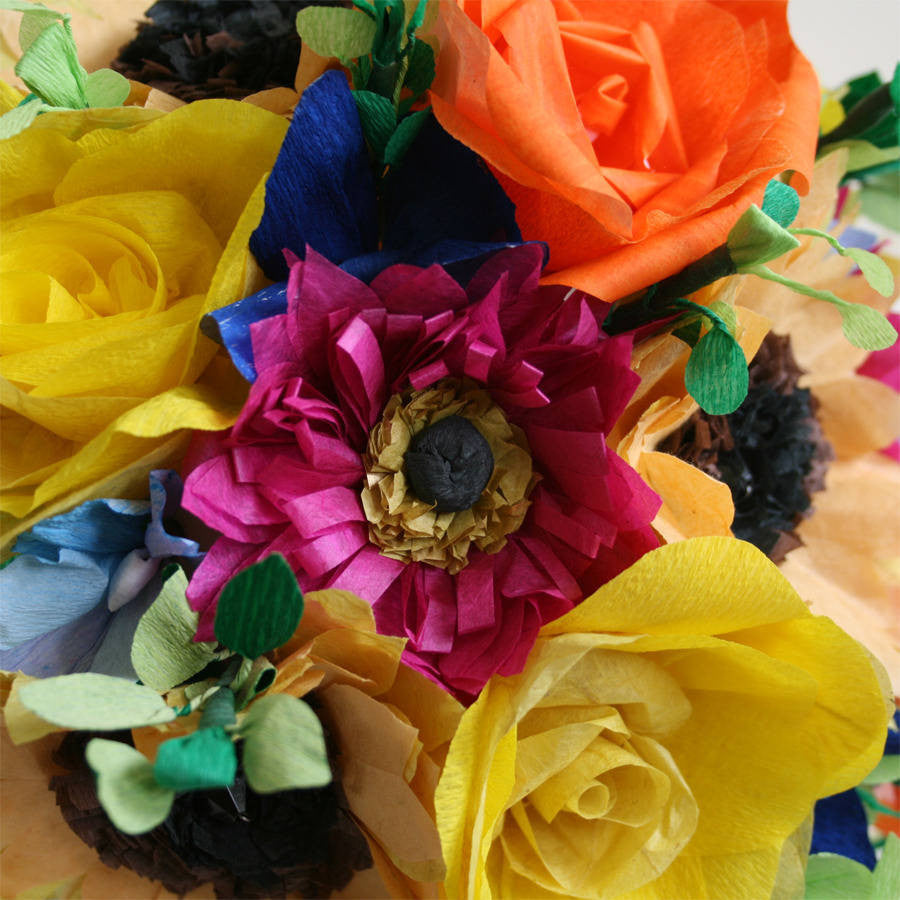 Summer paper flower bouquet paper posies ldn summer paper flower bouquet izmirmasajfo