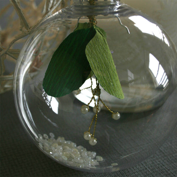 Paper Mistletoe Bauble Decoration