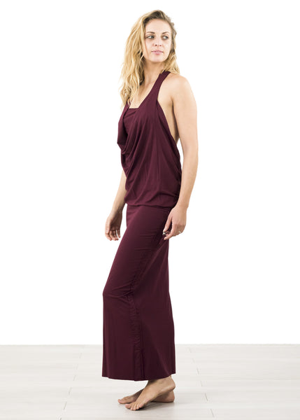 Soft Draped Backless Stretch Dress