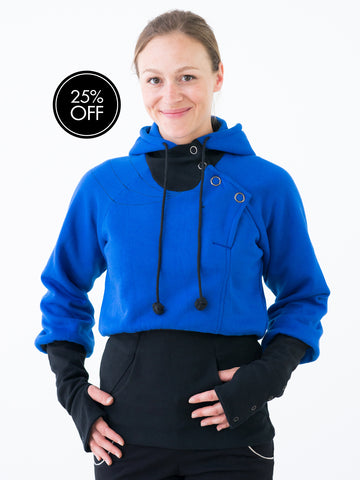 Ladies Hoody with high waist & sleeves