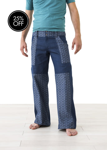 Stylish Straight Leg Printed Jeans
