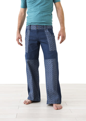 Jigsaw ::: Straight Leg Printed Jean / Pants