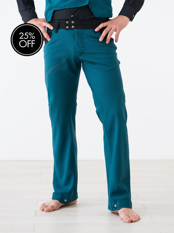Classy Straight-Leg Teal Trousers