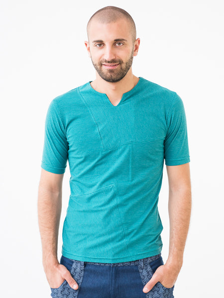 Turquoise Tailored Mens T-shirt