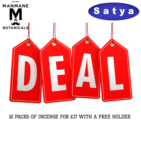 12 x Satya incense packs for £17 PLUS Free Chakra incense holder