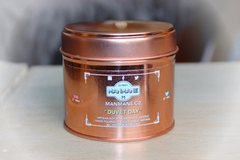 "Manmane "" Duvet Day "" Aromatic Candle 250ml. Cruelty free & Vegan"