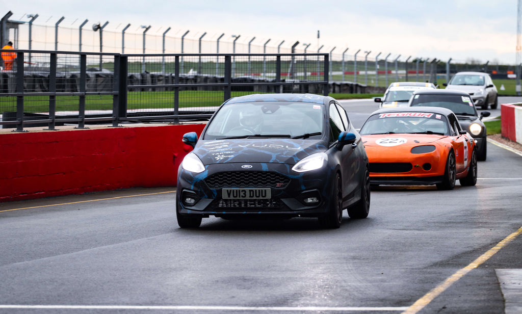 Mk8 Fiesta ST on the track