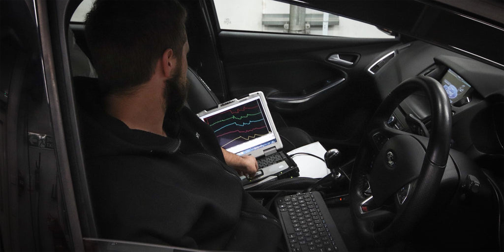 Technician remapping car