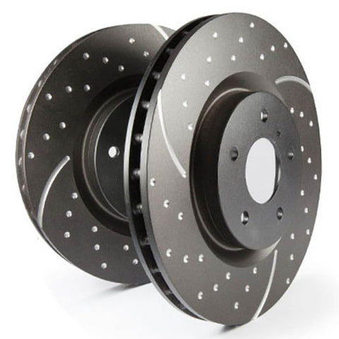 EBC Slotted And Dimpled Sport Rear Brake Discs for the Ford Focus RS Mk3